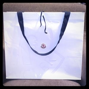 Moncler collectible shopping bag